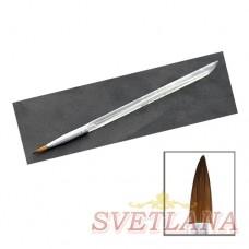 Кисть для акрила прозрачная ручка №4