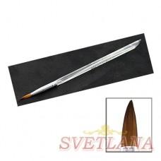 Кисть для акрила прозрачная ручка №6