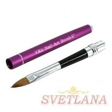 Кисть для акрила складная ручка №8