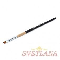 Кисть для геля черная деревянная ручка прямой ворс №10
