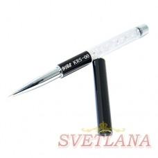 Кисть для рисования 5мм (складная черная ручка с декором)