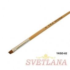 Кисть косая деревянная ручка YKSD-02