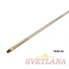 Кисть косая прозрачная ручка YKSP-02