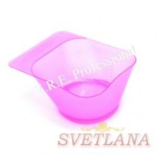 Миска для покраски квадратная розовая YB023