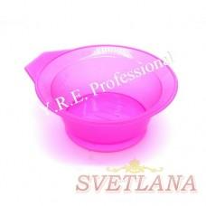 Миска для покраски круглая 522С розовая