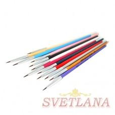 Набор кистей 12шт для рисования цветная ручка 00#