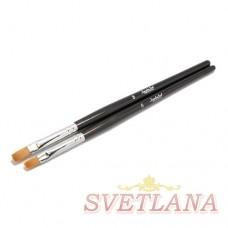 Набор кистей 2шт для геля с черной ручкой №6 №8