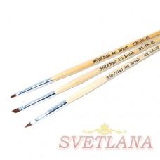 Набор кистей 3шт для китайской росписи #02 (деревянная ручка)