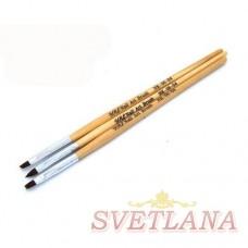 Набор кистей 3шт для китайской росписи #04 (деревянная ручка)