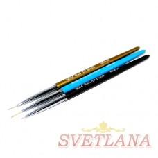 Набор кистей 3шт для рисования (цветная ручка)