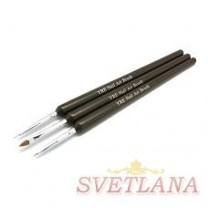 Набор кистей 3шт для рисования (черная ручка)