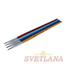 Набор кистей 4шт для рисования 0-0000# (цветная ручка)