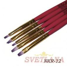 Набор кистей 5шт для китайской росписи (бордовая ручка)