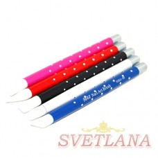Набор кистей 5шт силиконовые цветная ручка со стразами