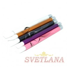 Набор кистей 5шт силиконовые цветная ручка с узором