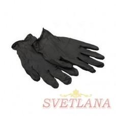 Перчатки виниловые черные 100шт